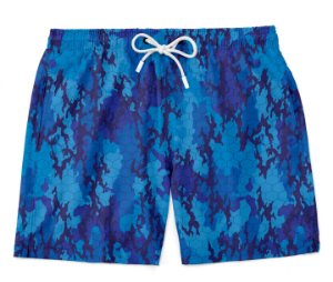 Bermuda Praia Camuflada Blue