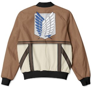 Jaqueta Bomber Com Bolsos Attack On Titans Shingeki no Kyojin