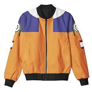 Jaqueta Bomber Com Bolsos Naruto Clássico Uniforme