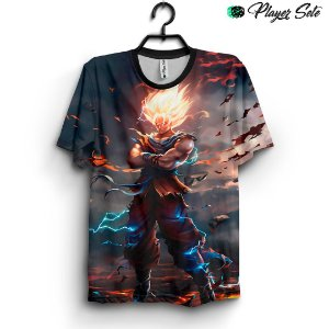 Camiseta 3d Full Dragon Ball Z Goku