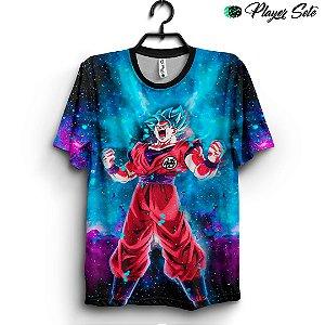 Camiseta 3d Full Dragon Ball Z Goku Galaxy