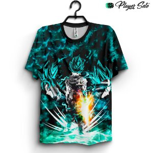 Camiseta 3d Full Dragon Ball Z Goku Green