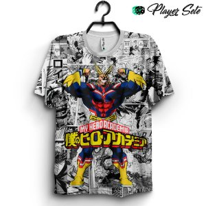 Camiseta 3d Full Anime Boku No Hero Academia All Might
