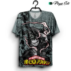 Camiseta 3d Full Anime Boku no Hero Deku