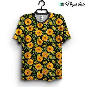 Camiseta 3d Full Girassol