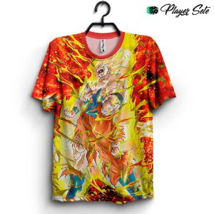 Camiseta 3d Full Dragon Ball Goku Saiyajin