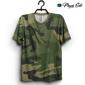 Camiseta 3d Full Camuflada