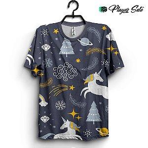 Camiseta 3d Full Unicórnio Star