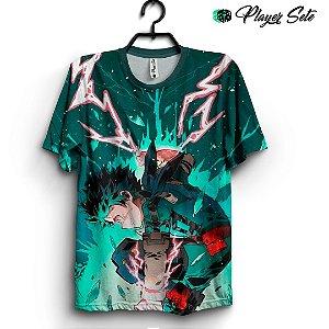 Camiseta 3d Full Anime Boku No Hero Academia Deku