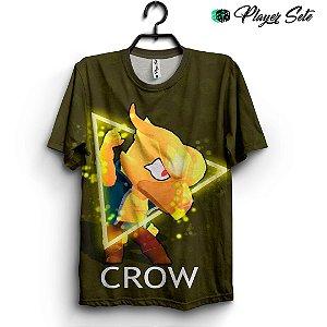 Camiseta 3d Full Jogo Brawl Stars Crow Fênix
