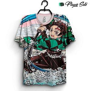Camiseta 3d Full Anime Kimetsu no Yaiba Tanjiro
