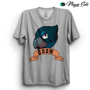 Camiseta Básica Unissex Jogo Brawl Stars Crow