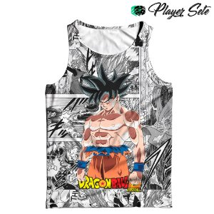 Camiseta Regata 3d Full Dragon Ball Goku Mangá