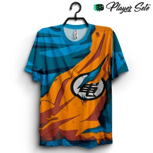 Camiseta 3D Full Dragon Ball Uniforme Goku