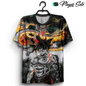 Camiseta 3D Full Dragon Ball Goku Shenlong