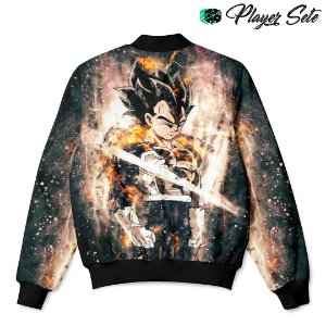 Jaqueta Bomber Com Bolsos Dragon Ball Vegeta