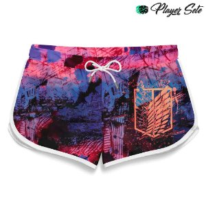 Short Feminino Anime Attack On Titan Logo