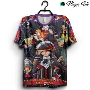 Camiseta 3D Full Halloween Anime One Piece