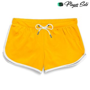 Short Feminino Liso Yellow Egg