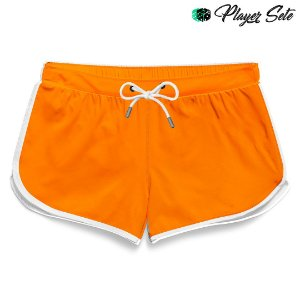 Short Feminino Liso Orange