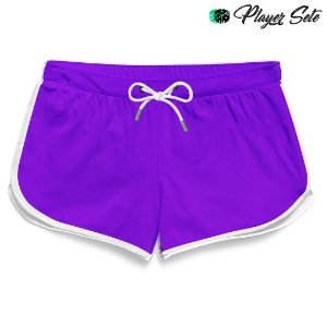 Short Feminino Liso Purple