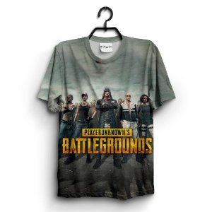 Camiseta 3D Full Jogo Pubg Battlegrounds