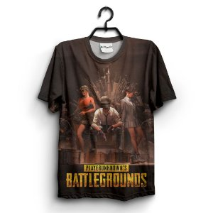 Camiseta 3D Full Jogo Online Pubg Battlegrounds