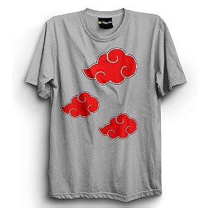 Camiseta Básica Anime Naruto Akatsuki Nuvem