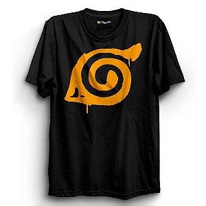 Camiseta Básica Anime Naruto Símbolo Konoha
