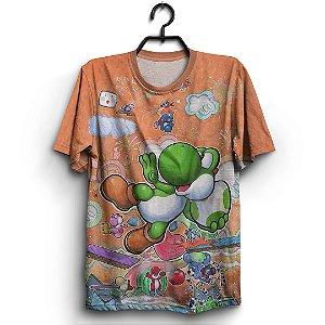 Camiseta 3d Full Jogo Super Mario Yoshi