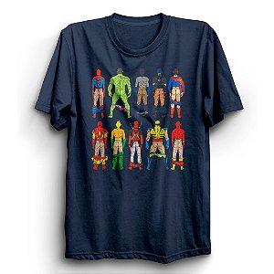 Camiseta Básica Super Heróis Bundinhas