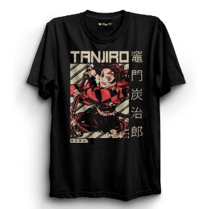 Camiseta Básica Anime Demon Slayer (Kimetsu no Yaiba) Tanjiro