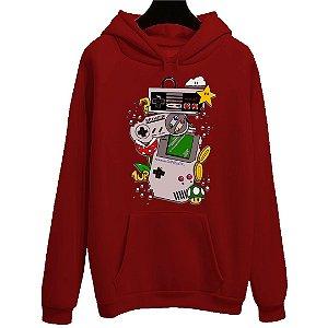 Blusa Moletom Canguru Jogo Super Mario Nintendo Game Boy