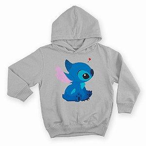 Moletom Com Capuz Infantil Filme Lilo & Stitch Cute