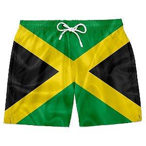 Short Bermuda Praia Bandeira Jamaica