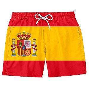 Short Bermuda Praia Bandeira Espanha