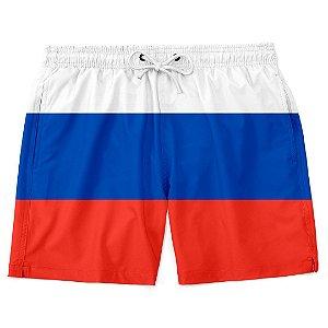 Short Bermuda Praia Bandeira Rússia