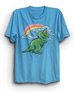 Camiseta Básica Dino Unicorn