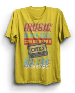 Camiseta Básica Music Can Be Heard
