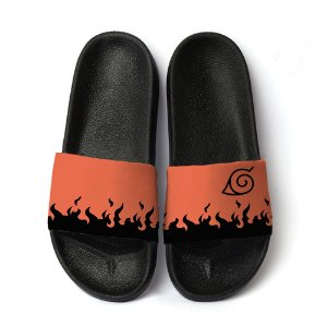 Chinelo Slide Anime Naruto Orange Flames