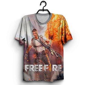 Camiseta 3d Full Jogo Free Fire Explosive