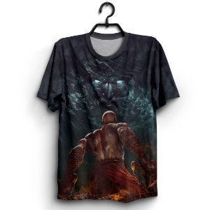 Camiseta 3d Full Jogo God Of War Sky