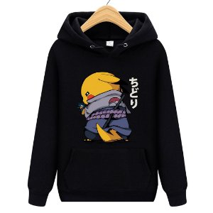 Blusa Moletom Canguru Jogo Pokémon Pikachu Naruto