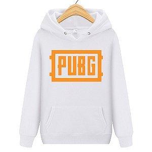 Blusa Moletom Canguru Jogo Pubg Logo Orange