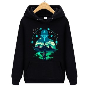 Blusa Moletom Canguru Jogo The Legend of Zelda: Breath of the Wild