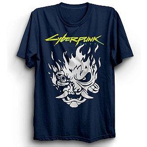 Camiseta Básica Jogo Cyberpunk 2077 Samurai