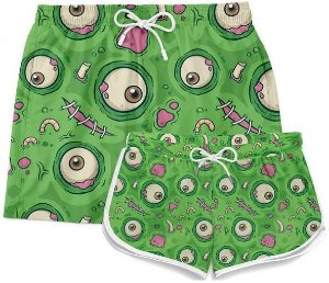 Kit Short Casal Praia Casal Monster