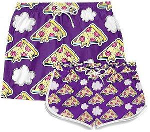 Kit Short Casal Praia Casal Pizza