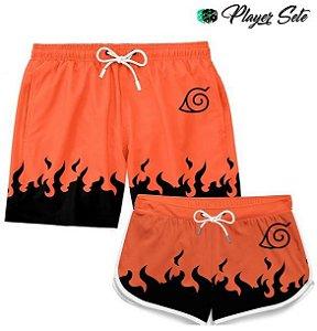 Kit Short Casal Praia Naruto