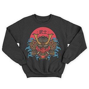 Moletom Gola Redonda Samurai Ninja Japonês